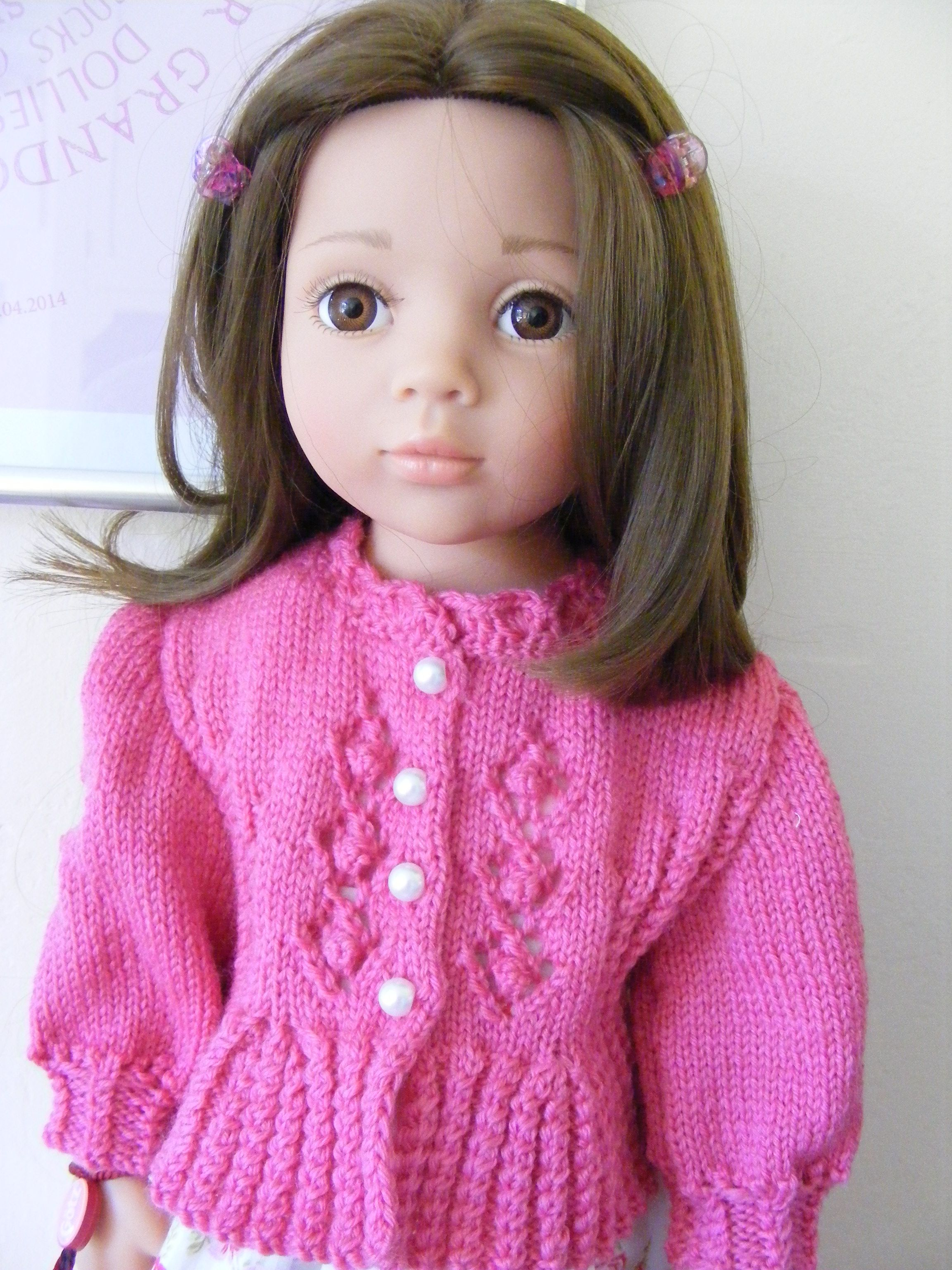 Gotz Clara pattern from ravelry, knitted by me doll clothes Pinterest P...