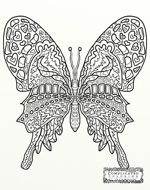 Free Complicated Flower Coloring Pages, Download Free Clip Art ... | 640x508