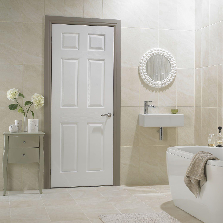 Combo puerta california 6 páneles con marco 90 x 213 cm | House