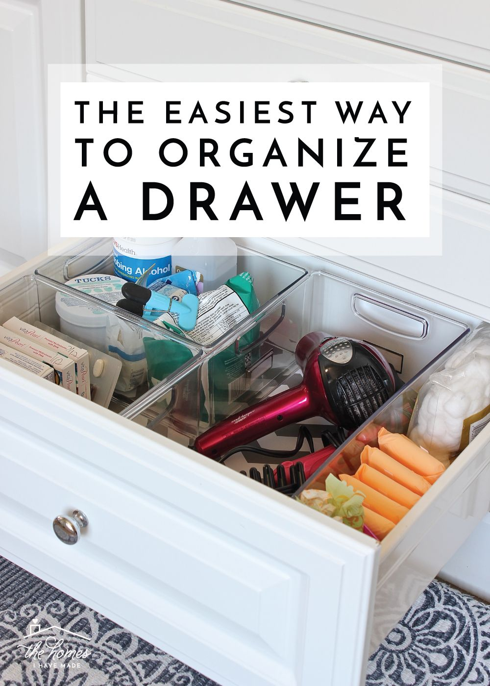 The Easiest Way To Organize A Drawer Bathroom Drawer