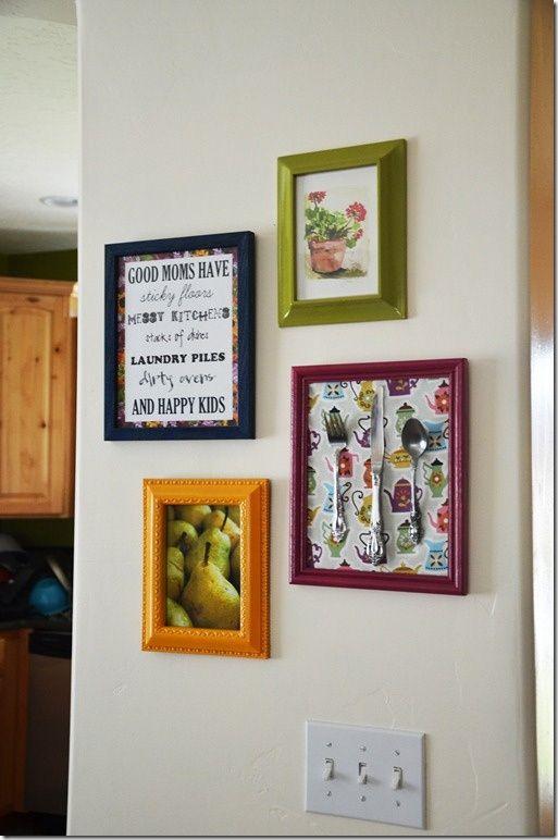 DIY Kitchen Wall Art | Found on smilelikeyoumeanit.net | Random DIY ...
