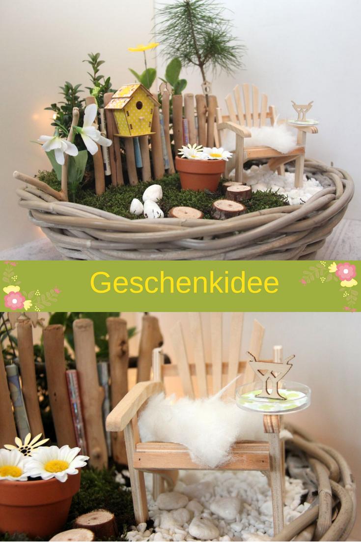 Minigarten Fruhlingshaftes Geldgeschenk Zum Runden Geburtstag Tischlein Deck Dich Geldgeschenke Basteln Geschenke Geschenk Garten