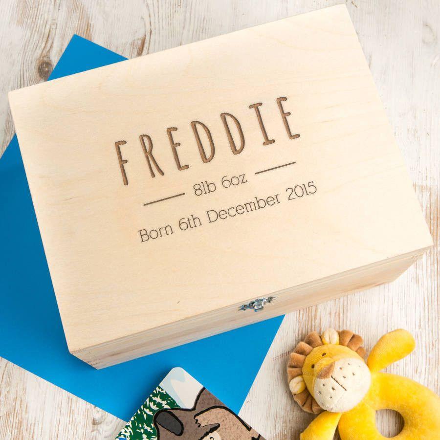 Personalised baby boy keepsake box keepsakes box and delivery personalised baby boy keepsake box negle Gallery