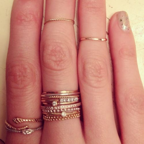 thin stacked rings