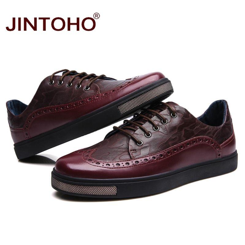 76473ac2c JINTOHO 35 45 homens sapatos casuais sapatos masculinos da marca de luxo  mens sapatos de couro