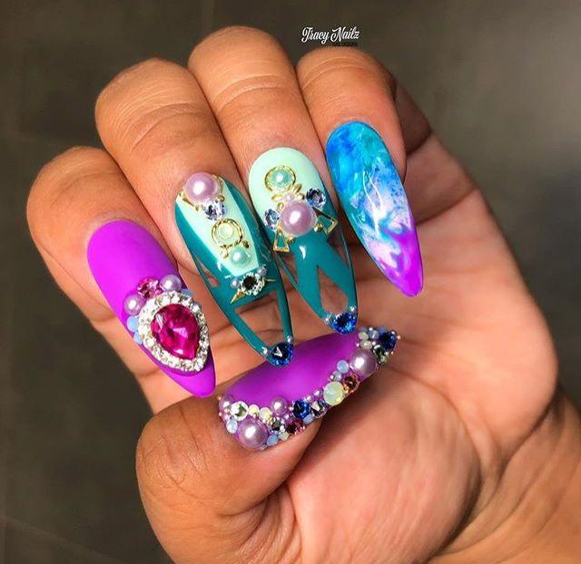 Pin By Tyketa Preston On Cute Nail Designs Pinterest Fun Nails