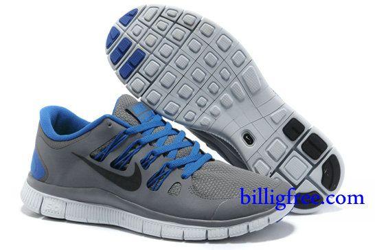 Billig Schuhe Herren Nike Free 5.0 + (Farbe Vamp-grau,innen-blau,Logo- schwarz Sohle-weiB) Online Laden. 0c82c164e6