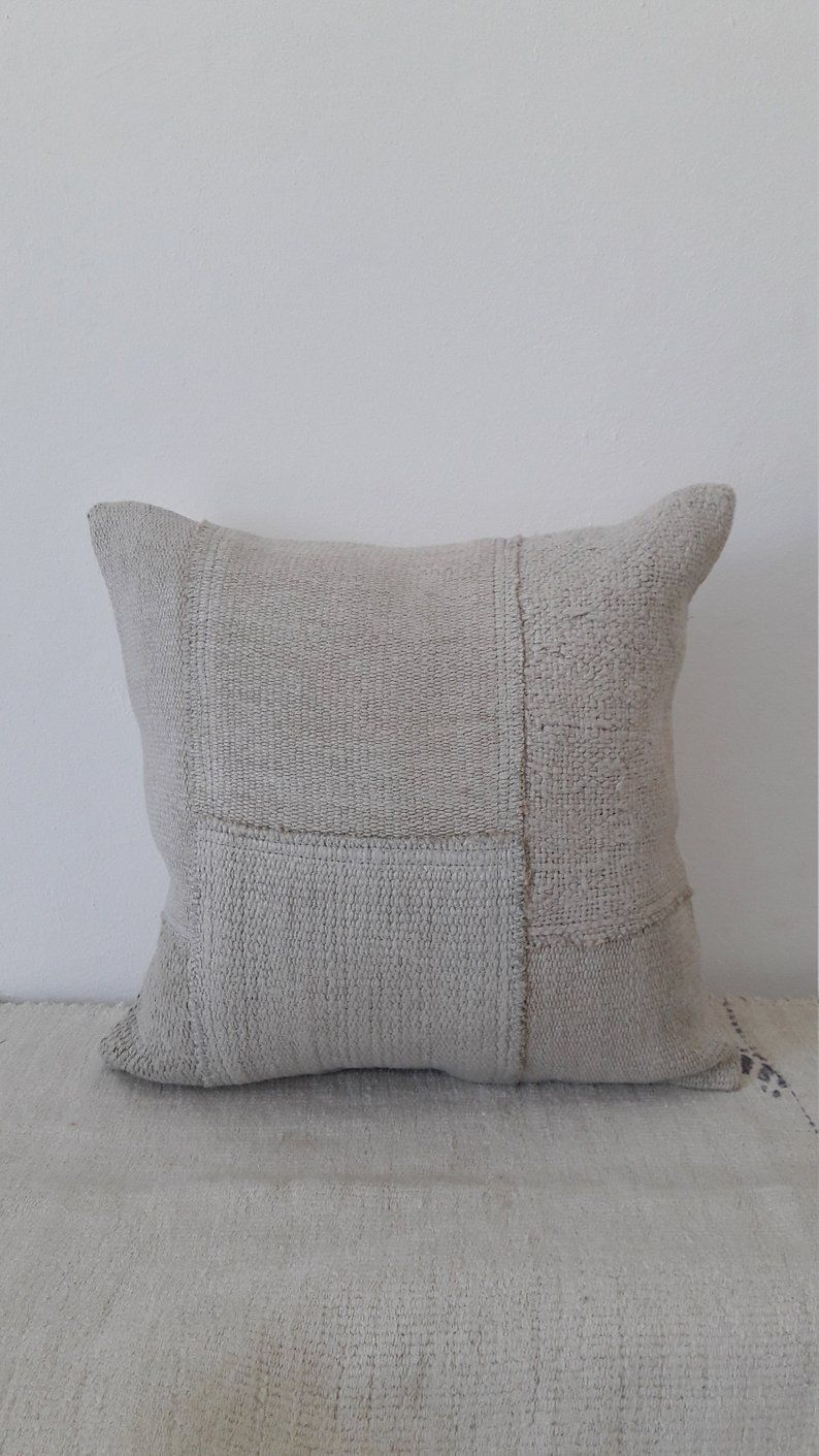 Hemp Pillowturkish Pillowhemp Pillowkilim Pillow Etsy Ivory Pillow Hemp Pillows