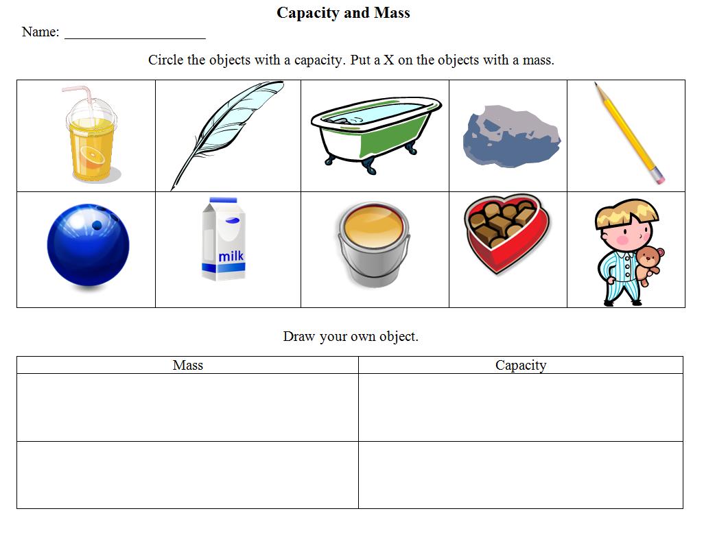 Capacity Versus Mass
