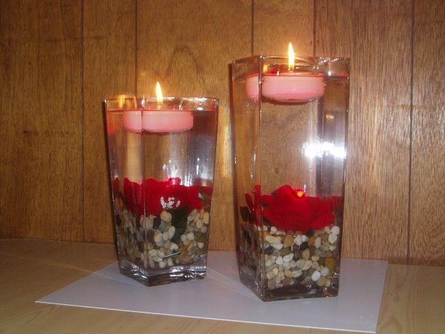 Decoracion de mesas con velas flotantes Arreglines Pinterest - centros de mesa para boda con velas flotantes