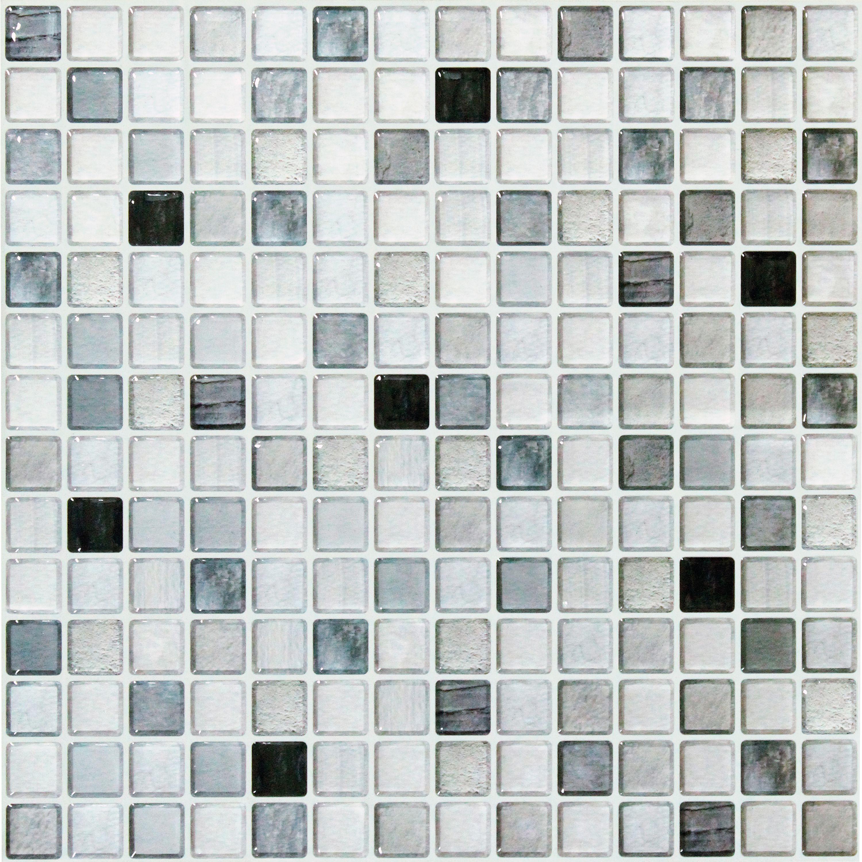 Beaustile Monochrome 4 Piece Decorative Adhesive Faux Tile Sheets 12 2in X