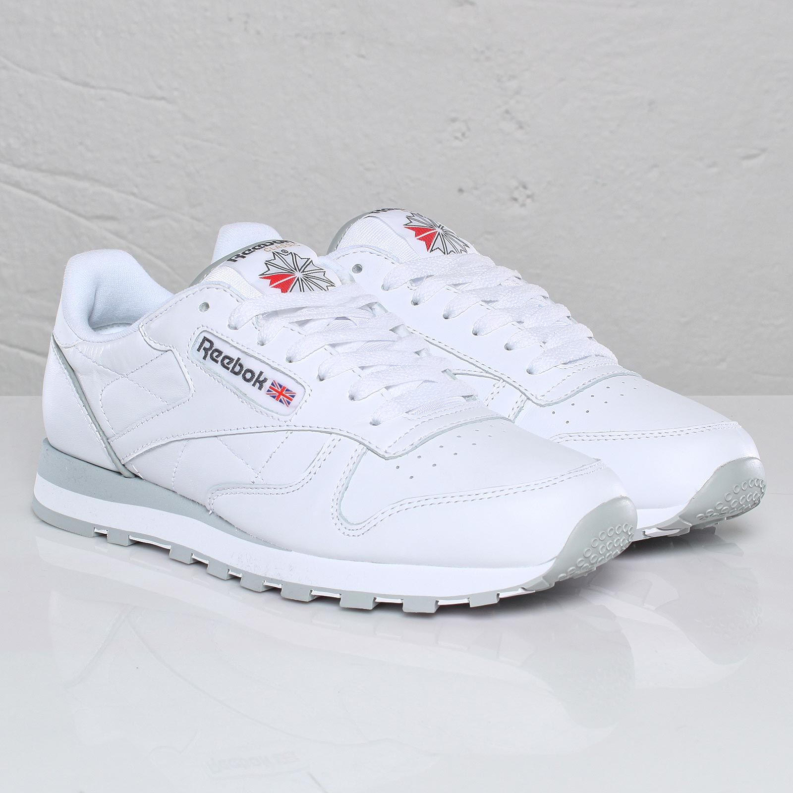 b28482e606dc2 Reebok Classic Leather White Light Grey