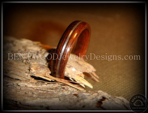 Bentwood Ring - Macassar Ebony Wood Ring Jewelry with Guitar String In - Bentwood Wood Rings - Custom handcrafted wooden rings both durable and unique