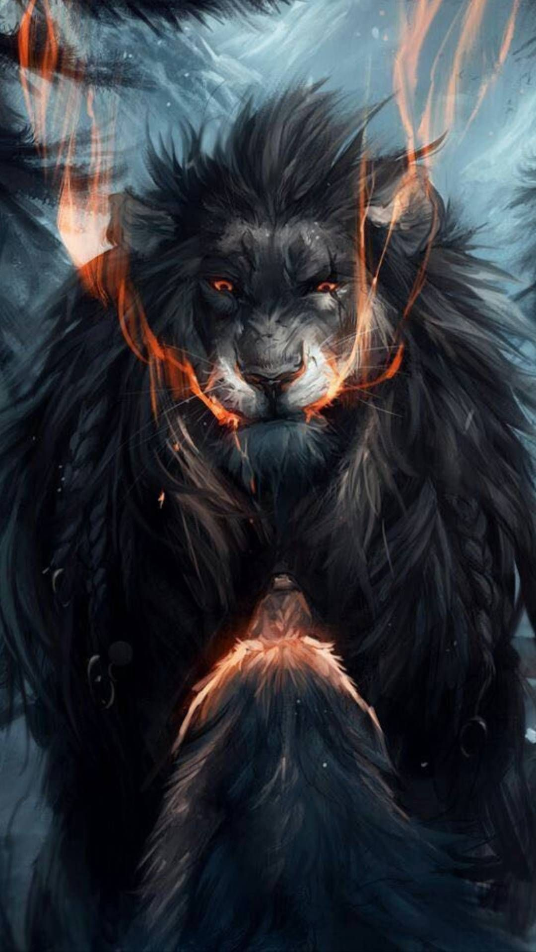 Lion Vs Wolf Iphone Wallpaper Iphonewallpaper Iphone Wallpaper Android Androidwallpaper Iphonebackground Mythical Creatures Art Lion Art Fantasy Beasts
