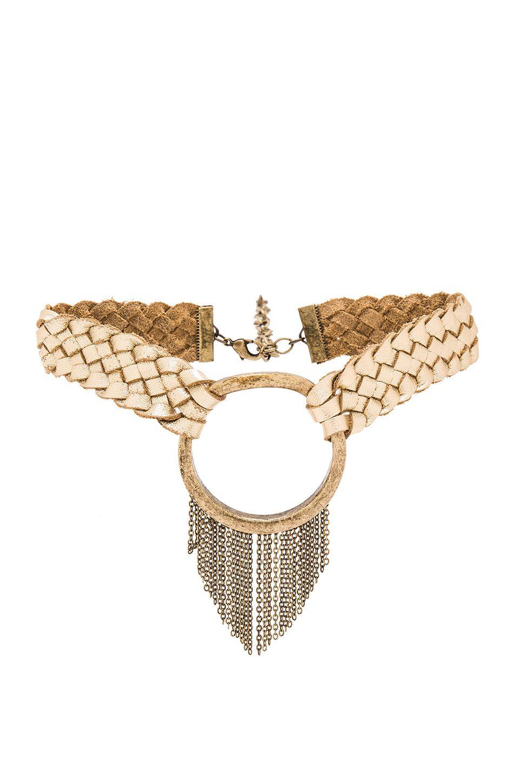 Ettika Behind The Bit Choker in Metallic Gold eDT61l41a