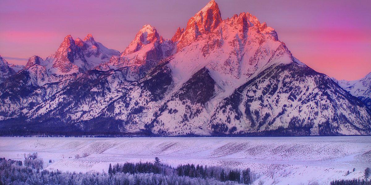 Landscapes Mountains Snow Wyoming Nature Grand Teton National Park Wyoming Mountains