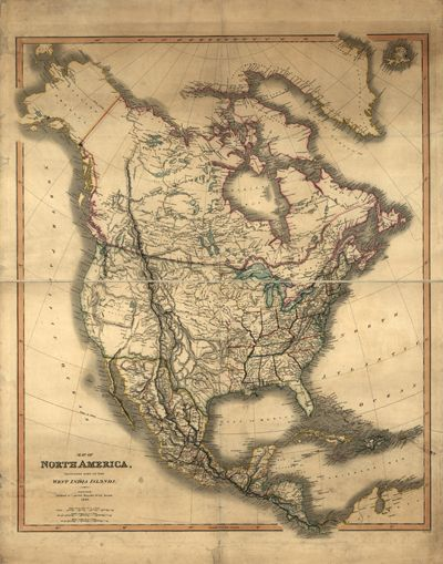 North America United States Canada Mexico Cuba Central - Us canada mexico provinces map