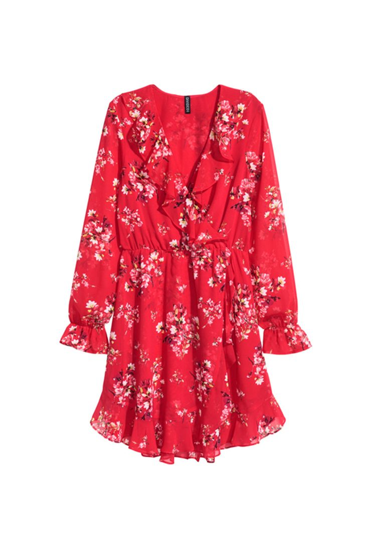 9f3f75a467e This H&M red floral printed dress has just the right amount of ...