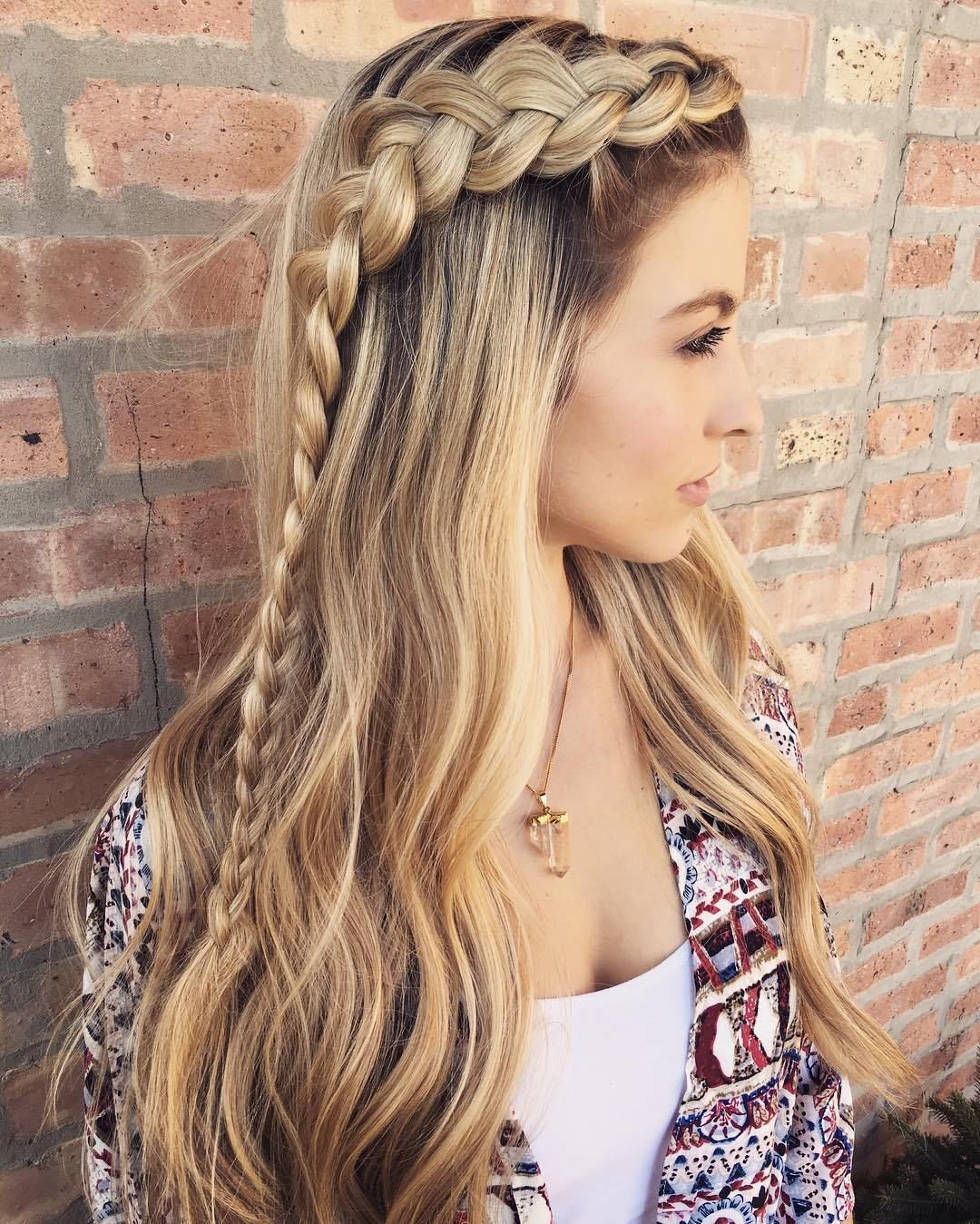 Long Hairstyles For Girls and cool hair color