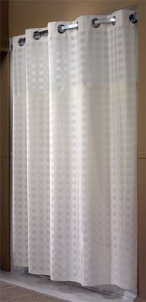 Shimmy Square HooklessR Shower Curtain With Snap In Liner