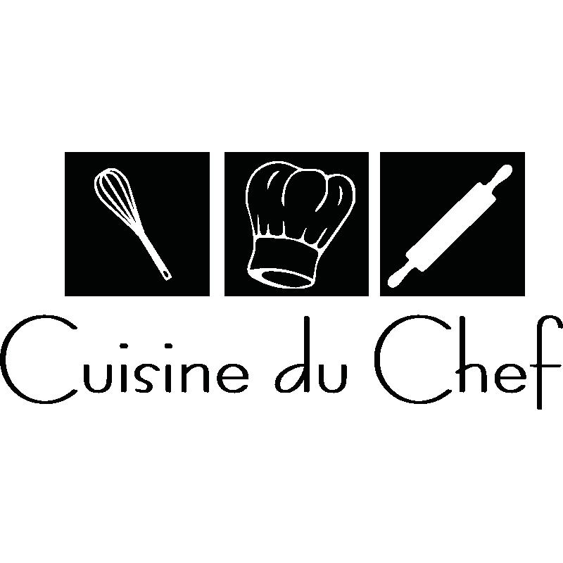 Sticker d co cuisine du chef design logo sticker cuisine chef de cuisine et logo cuisine - Stickers plan de travail cuisine ...