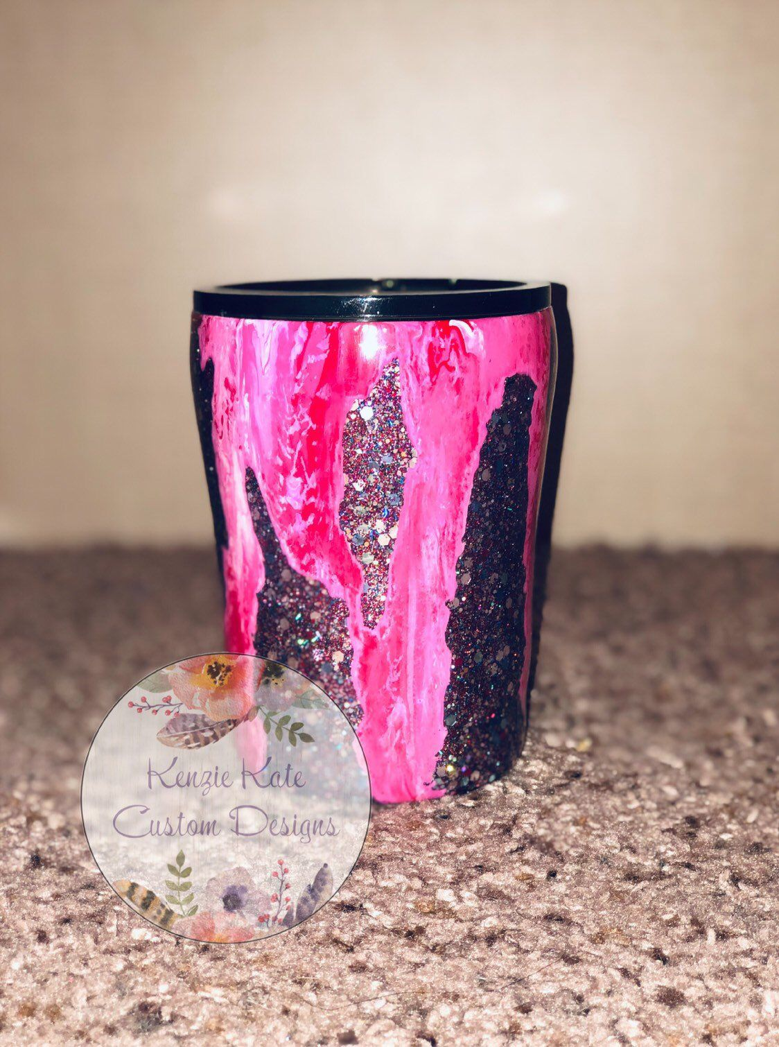 16c84a05c02 Excited to share this item from my #etsy shop: 10 oz Lowball Geode Custom  Tumbler #customized #geode #lowball
