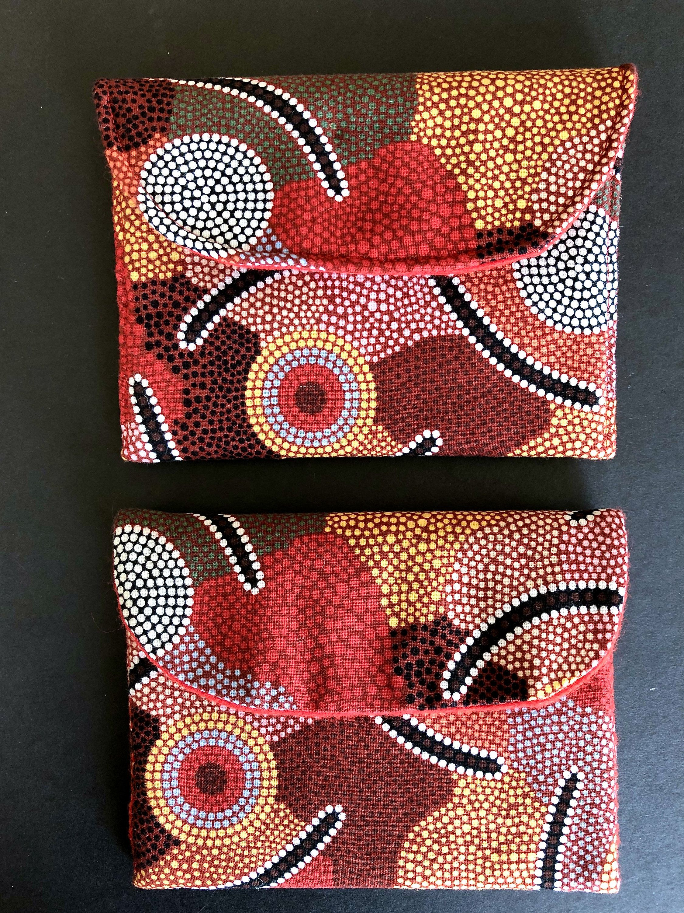 Two Small Handmade Coin Purses, Australian Indigenous