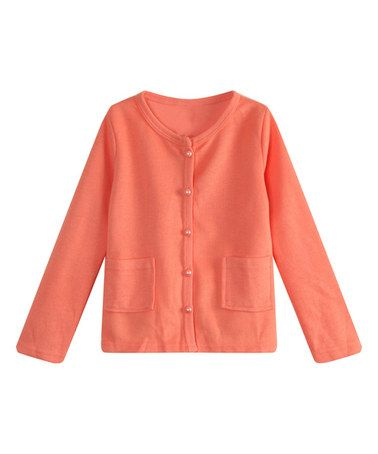 Loving this Orange Lace-Back Cardigan - Toddler & Girls on #zulily ...
