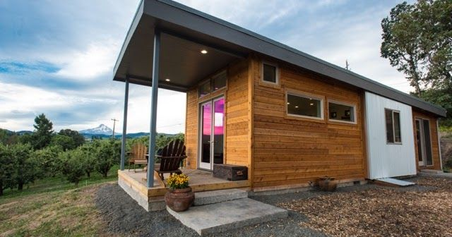 The Orchard Is A 750 Sq Ft Park Model Home Designed And Built By Ideabox A Company Based In Salem Orego Modern Prefab Homes Prefab Homes Prefab Guest House