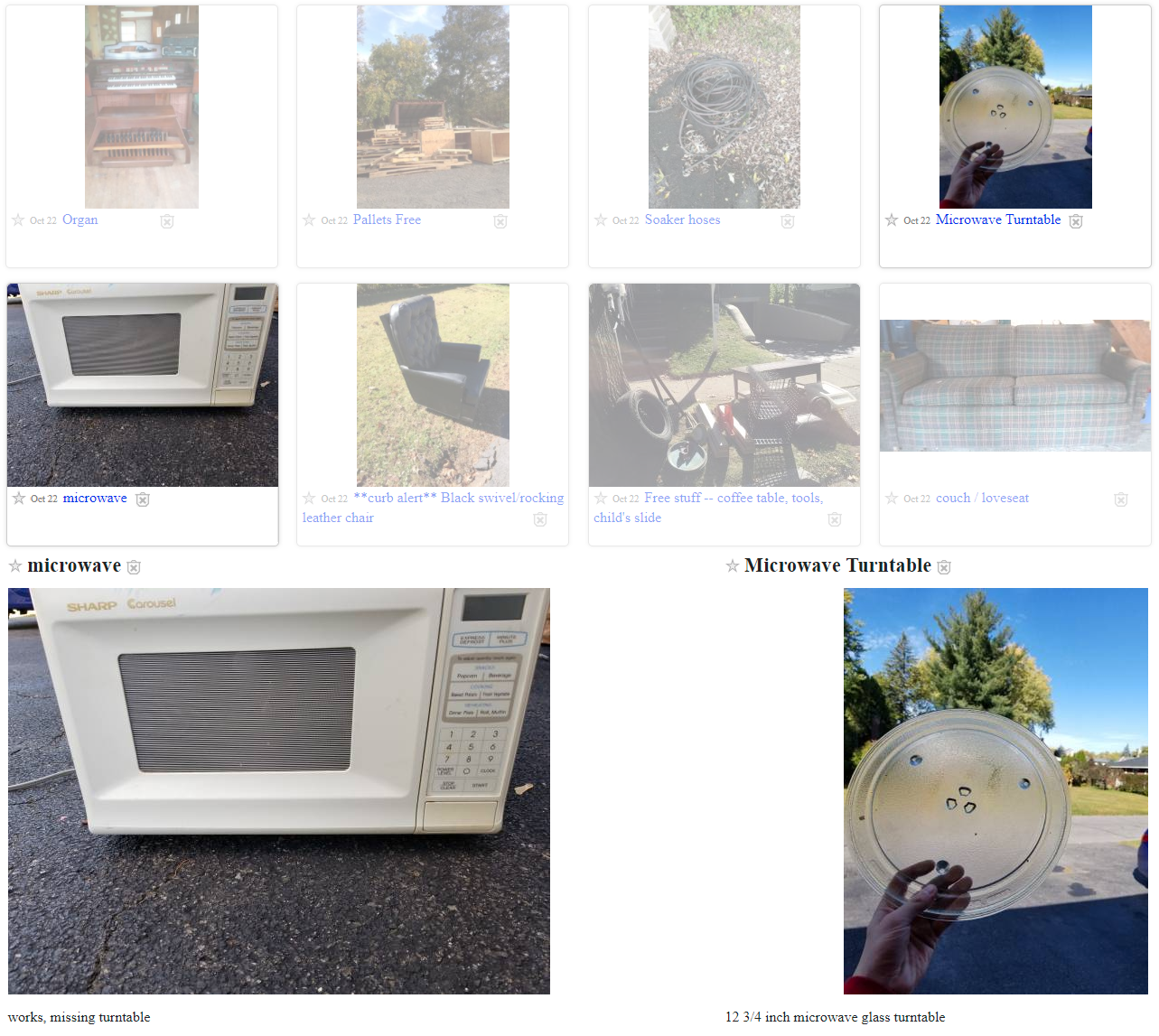 As Seen In The Craigslist Free Section A Microwave Missing Turntable And
