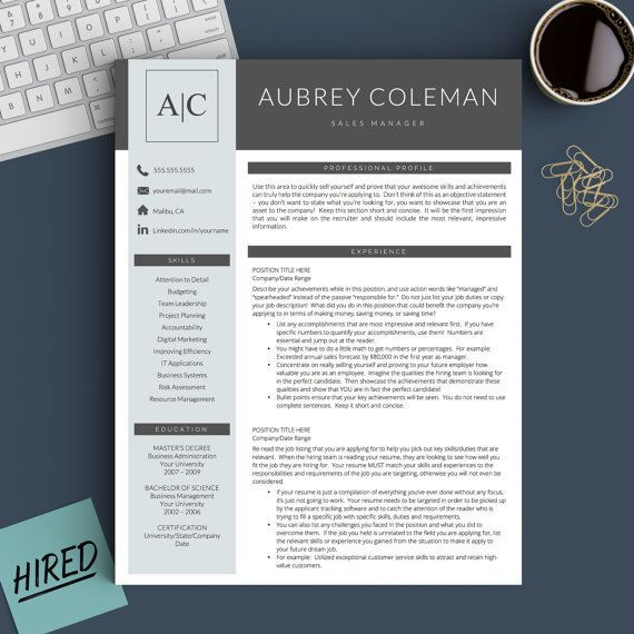 Creative Resume Template for Word and Pages 1, 2 and 3 Page Resume - how you do a resume