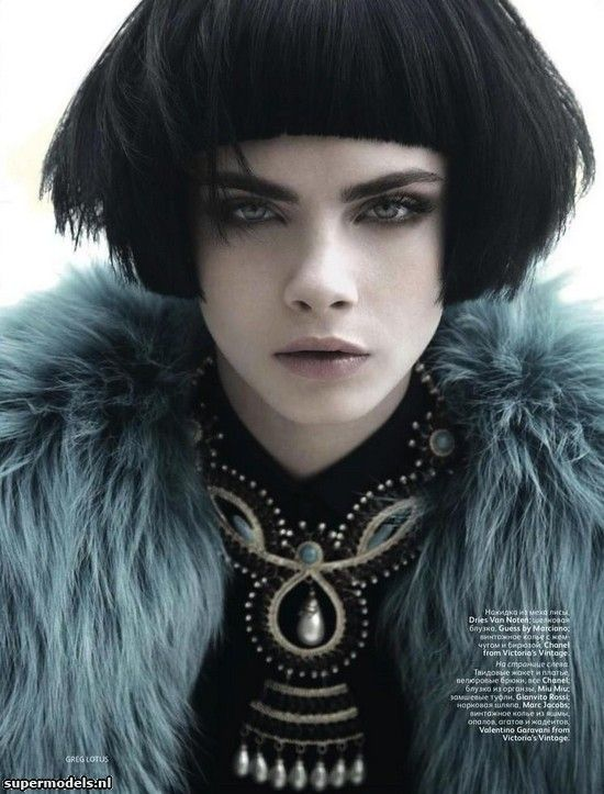 Cara Delevingne in 'The Thin Border'  Photographed by Greg Lotus  Scanned by janelle - Vogue Russia August 2012