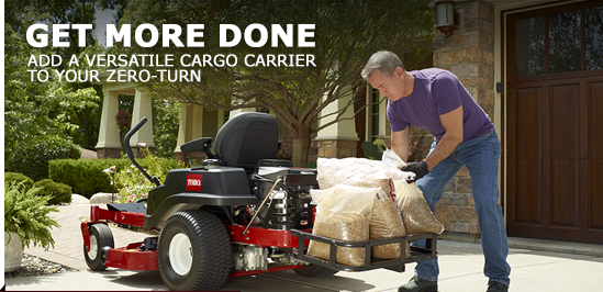 Get More Done Add A Versatile Cargo Carrier To You Zero Turn Zero Turn Mowers Turn Ons Cargo Carrier