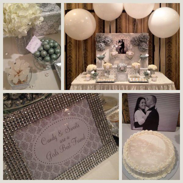 Diamond Themed Bridal Shower Wedding Shower Tables Bridal