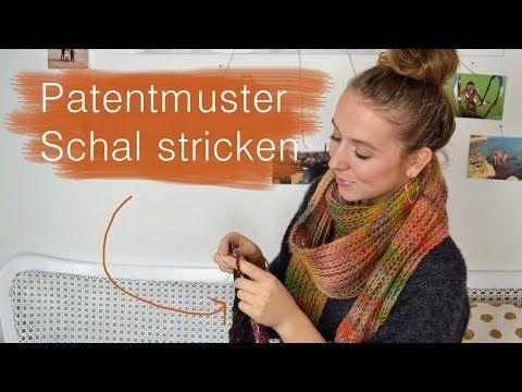 Photo of Schal mit Patentmuster stricken   Super einfach!