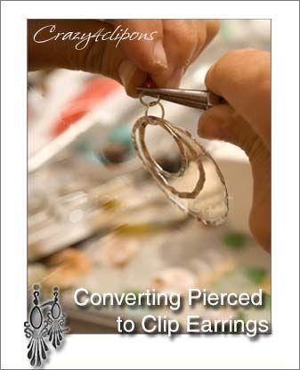 Convert Pierced Earrings To Clip On Earrings For Non Pierced Ears