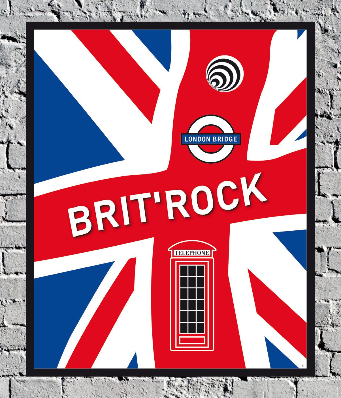 England London Pop Rock Musique Poster Affiche Voyage Vintage   Etsy   Poster prints, Travel ...