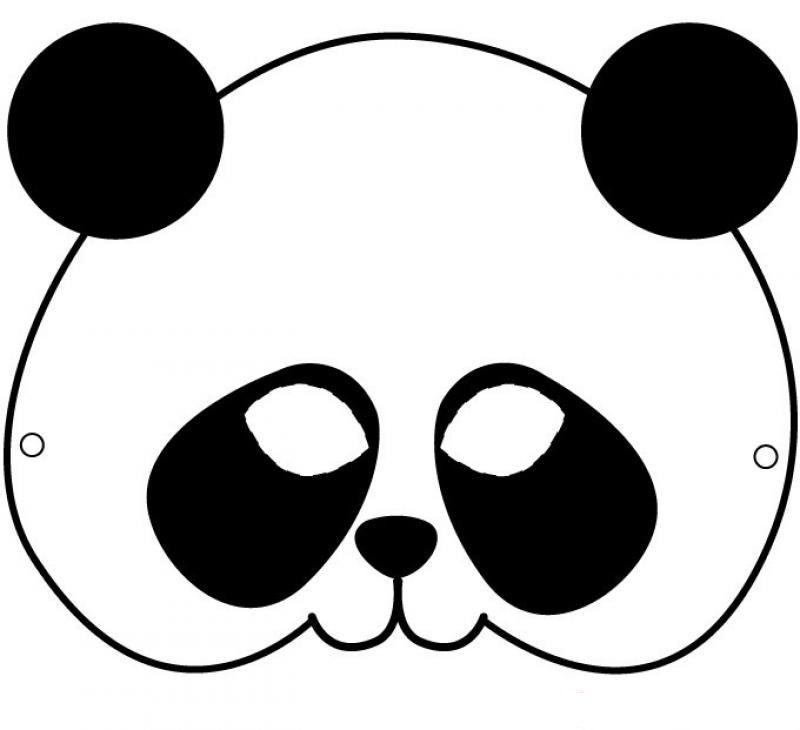 Mask Maske Panda Okul Oncesi Etkinlik Okul Oncesi Maske Preschool