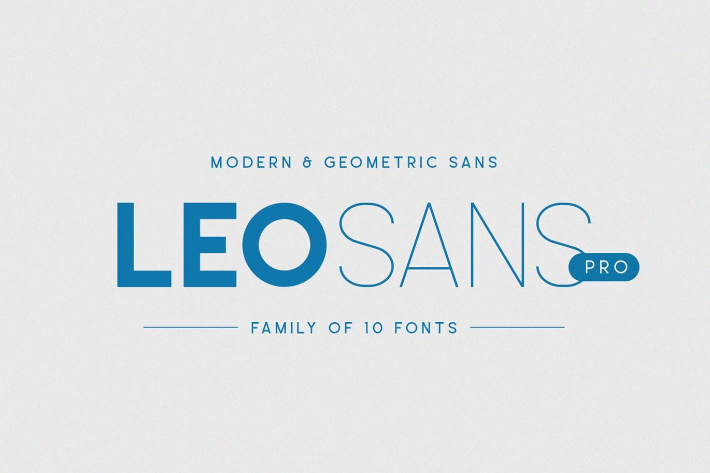 Leo Sans Pro by factory738 on Envato Elements | Font