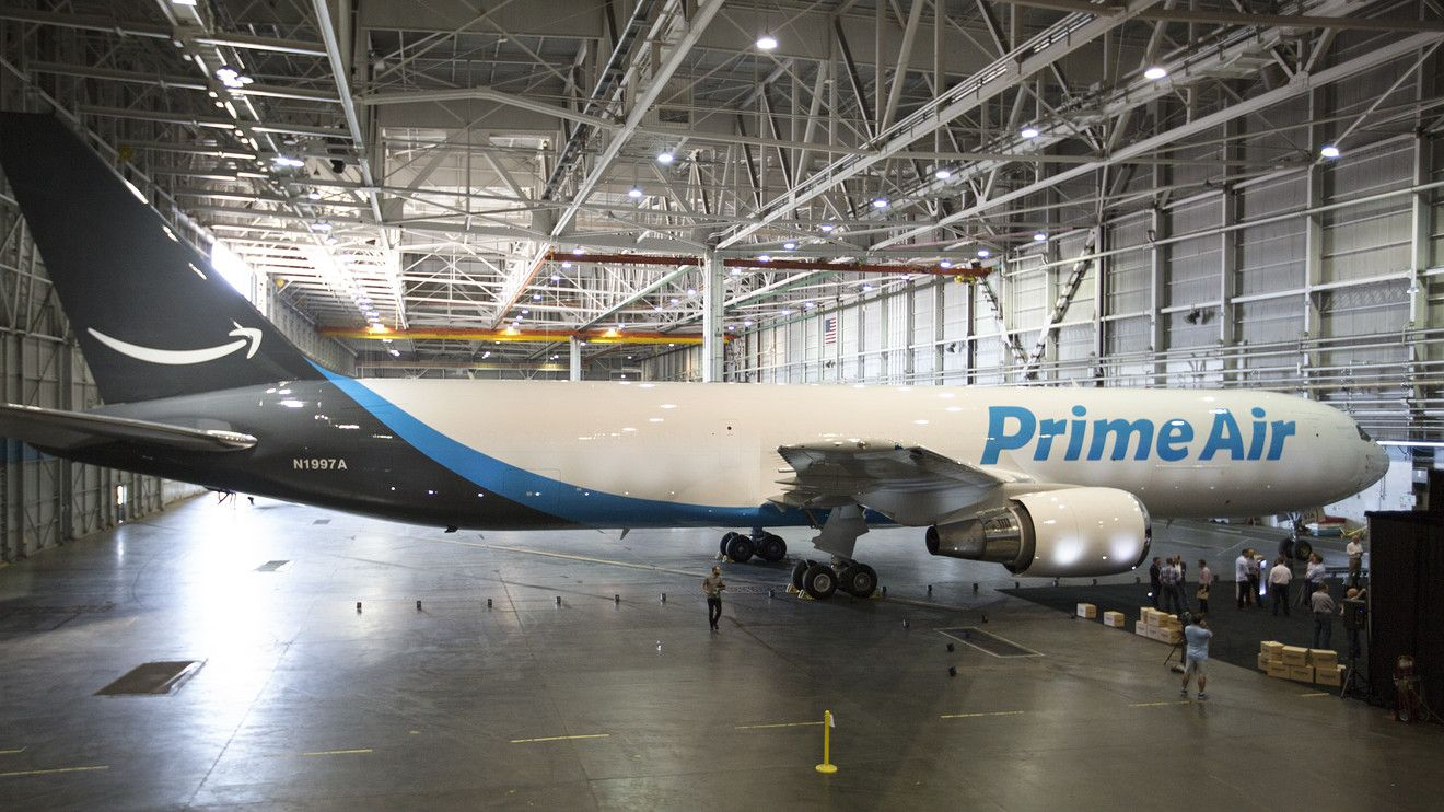 Amazon reveals its first 'Prime Air' plane, promising