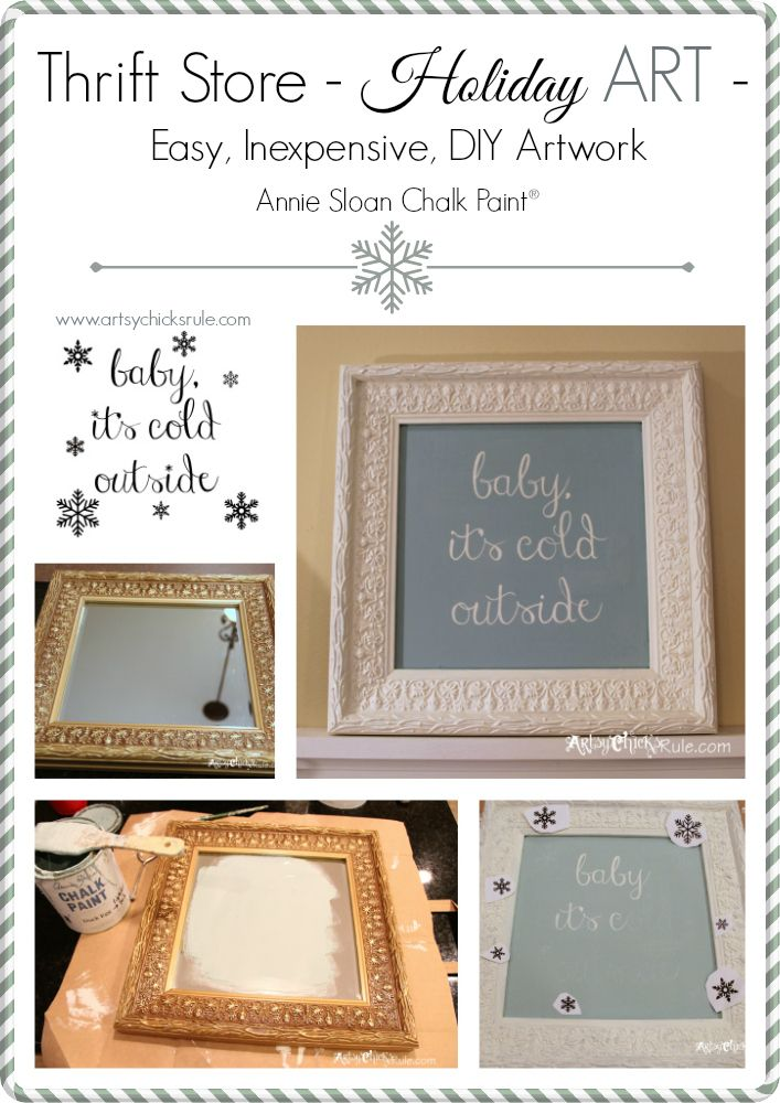 Baby it 39 s cold outside thrifty makeover w chalk paint - How cold is too cold to paint ...