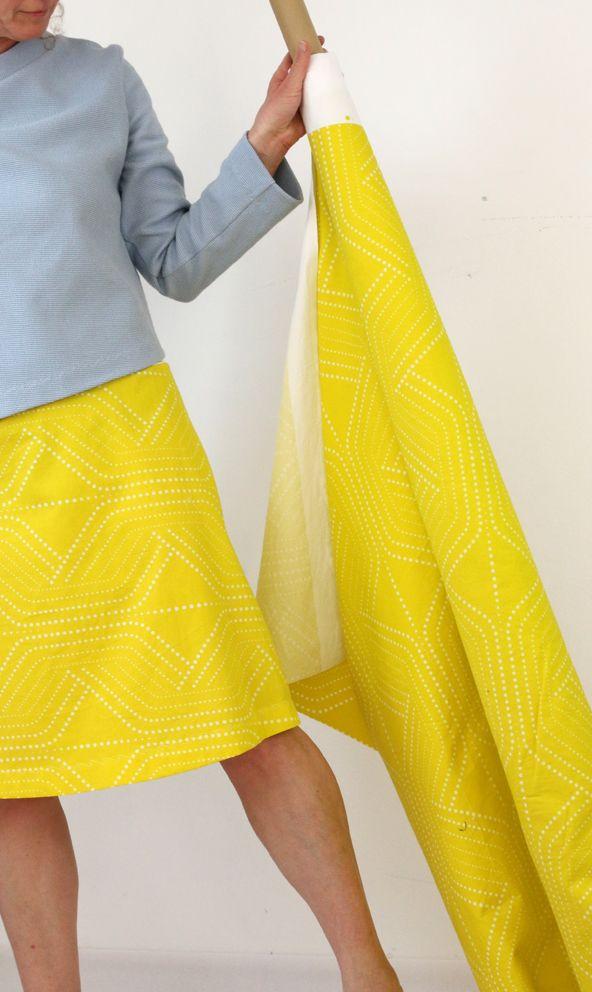 gelber Sommerrock yellow Dress modelabel münchen  yellow  fashion ... eba1b34400