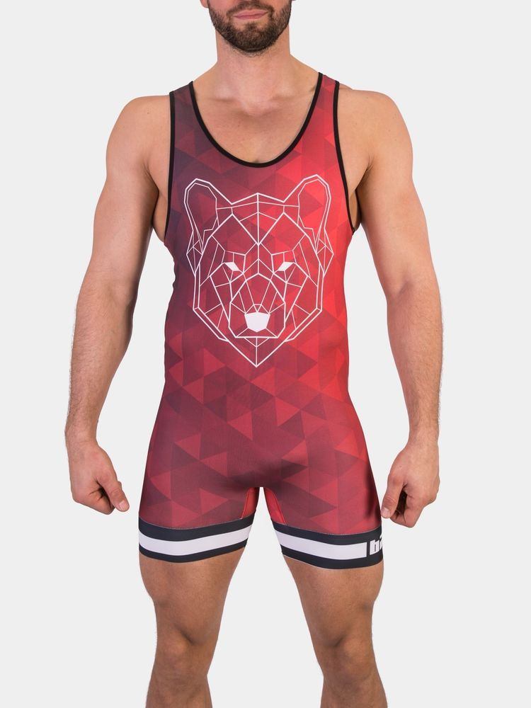 Barcode Berlin Wild Alpha Male Singlet Red
