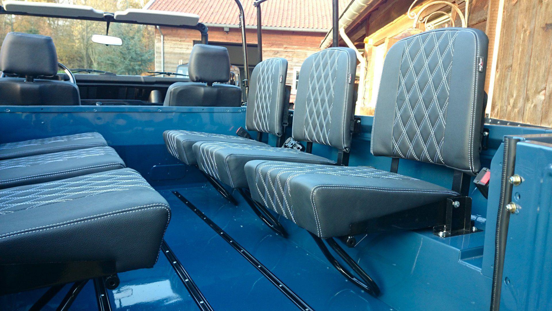 97dcc3c16 5 1988 Land Rover Defender 110 soft top LHD Arles Blue 2.5 Td day 15 ...