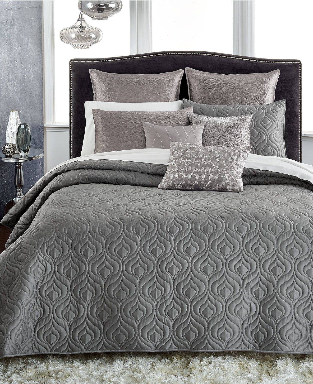 Elegant INC International Concepts Rizzoli Gunmetal Coverlet Collection, Only At  Macyu0027s   Bedding Collections   Bed
