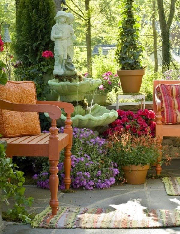 15 ideas para decorar la terraza (visto en Lonny) Las terrazas - decoracion de terrazas con plantas