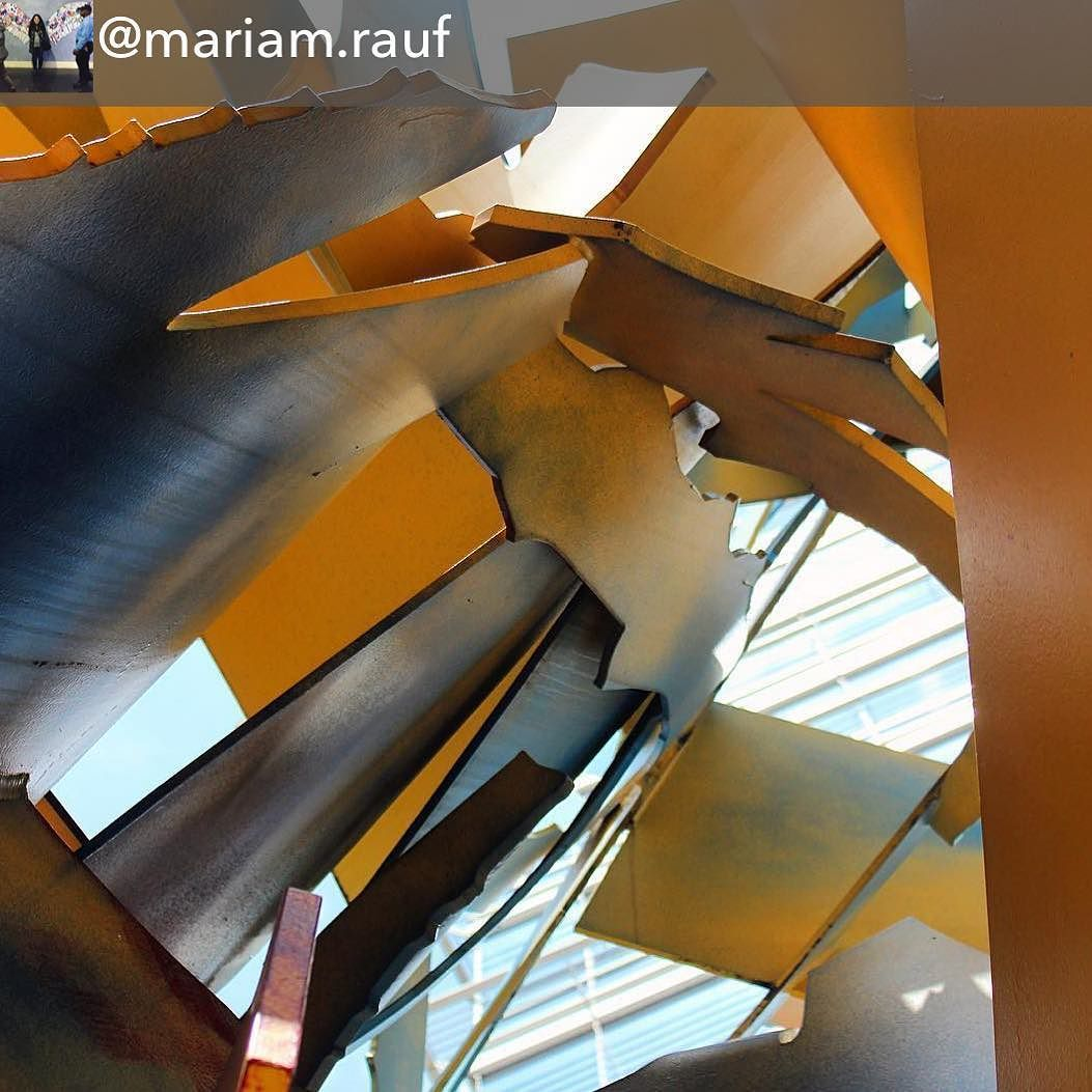 """When was the last time you walked inside a sculpture?  Epoch from the inside looking up.  Repost from @mariam.rauf using @RepostRegramApp - """"Walk inside and take a look."""" And there I got a whole new perspective of the sculpture in front of Zaytinya."""