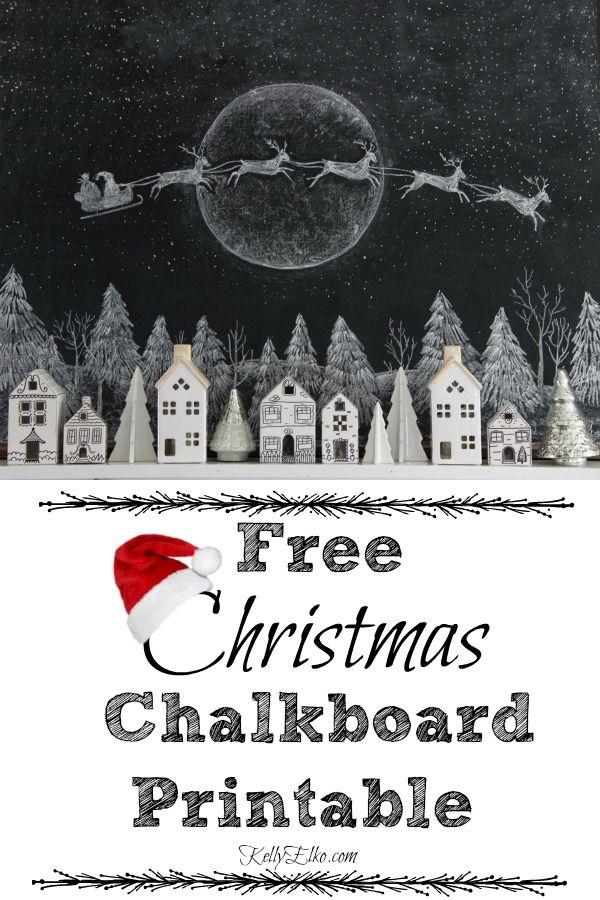 Photo of Christmas Chalkboard Printable