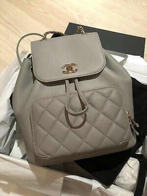 Chanel Business Affinity Gray Backpack | Grey backpacks ...