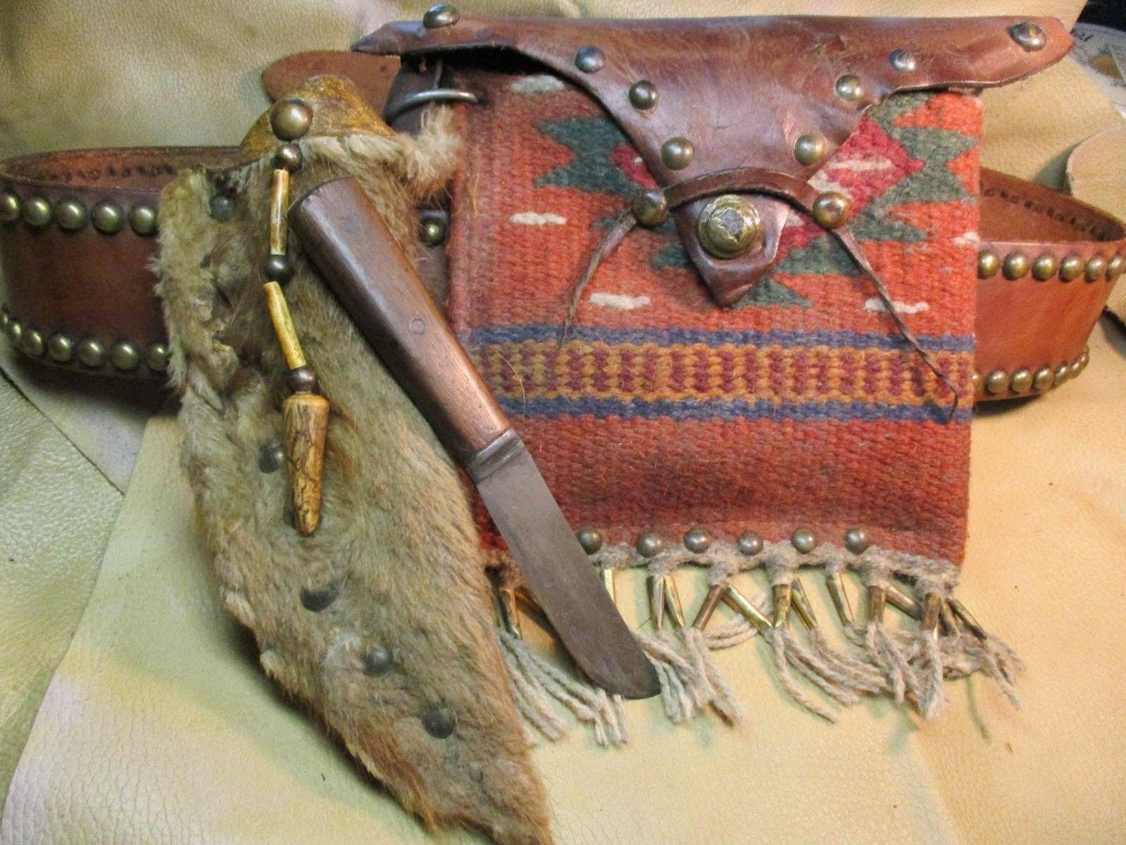 Southwestern Black Powder Possibles Bag Mountain Man Knife